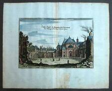 ABBAYE DE PORT ROYAL DE PARIS gravure ancienne aquarellée Merian 1661