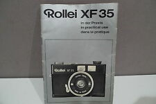 ROLLEI XF 35 INSTRUCTION MANUAL -RARE
