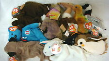 10 Pack Wholesale Lot-Ty Beanie Babies- All but 1 1998 & Earlier/Mystic/Bru++ 6A
