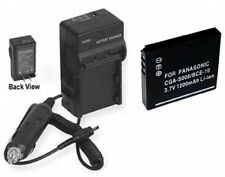 Battery + Charger for Panasonic DMC-FX33A DMC-FX33S SDR-SW20P DMC-FX37S DMCFX37