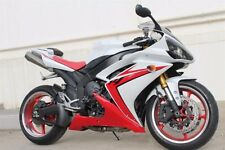 White with Red Fairing Kit Injection for 2007-2008 Yamaha Yzf R1