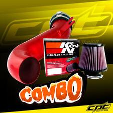 08-10 Cadillac CTS 4dr 3.6L V6 Red Cold Air Intake + K&N Air Filter