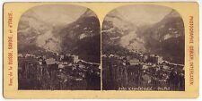 Suisse Grindelwald Photo Gabler Stéréo Vintage Albumine ca 1900