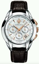 VERSACE CHARACTER M9A99D002S497 LIMITED EDITION 027/200  LEATHER AUTOMATIC WATCH