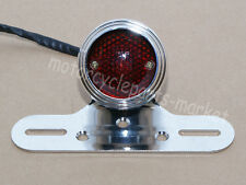 Chrome RETRO Tail Brake Light For Honda Kawasaki Suzuki Yamaha Harley Cafe Racer