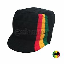 One Love Reggae Rasta Beanie Kufi Hat Cap Bob Hippie Cool Runnings Jamaica SM