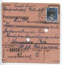 Lokal/Sächs. Schwärzung Postanweisung von Ehrenfriedersdorf mit AP 791 I(B06130)