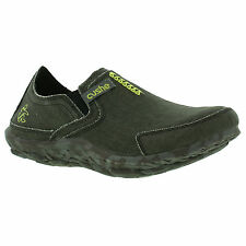 Cushe M Slipper Mens Green Slip On Canvas Moccasin Loafer Size UK 7-12