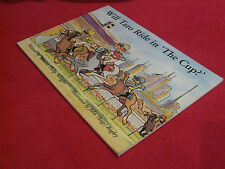"Will Taro Ride in 'the Cup'? Maxine Philp-Wright Illus John ""Bags"" Bagley SIGNED"