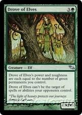 DROVE OF ELVES Shadowmoor MTG Green Creature — Elf Unc