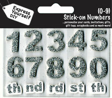 Numbers 0-9 Silver DIY Greeting Card Toppers Personalise Cards Express Yourself