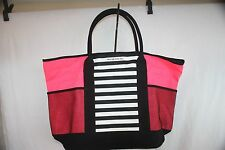 Victoria Secret Beach/Travel Bag Pink And Black NEW NWT