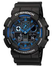 Casio G Shock *GA100-1A2 Anadigi XL Blue Semi Gloss Black Gshock COD PayPal