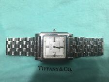 Tiffany men's stainless dress watch Saffire stem