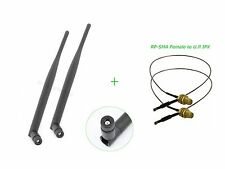 2 6dBi RP-SMA Dual Band WiFi Antenna + 12in U.fl Cable for Buffalo WZR-HP-G450H