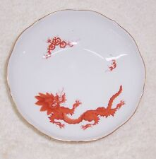 Meissen Ming Dragon Red Dessert Bowl