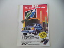 advertising Pubblicità 1987 SIPORT e JEEP CHEROKEE CHIEF