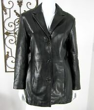 MARC NEW YORK ANDREW MARC LEATHER JACKET SIZE M, BLACK