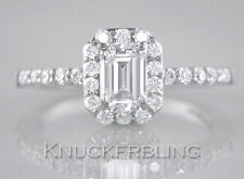 Certified 2.00ct Diamond Engagement Ring H VS1 VG 18ct White Gold Emerald Cut