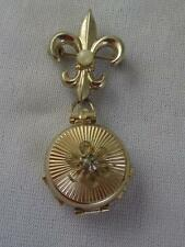 VTG 1951 PEGASUS CORO FLEUR DE LIS PIN W/ FAMILY ALBUM FOLDING LOCKET-PAT2545267