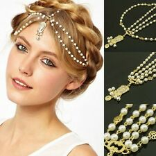 Fashion Women Bridal Rhinestone Head Chain Jewelry Headband Head Piece Hair Band