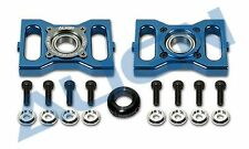 H60154QH Metal Main Shaft Bearing Block Blue Align T-Rex 600 Helicopter Part