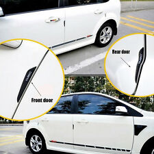 2pair New Strip Carbon Fiber Car Side Door Edge Protection Guards Trims Stickers
