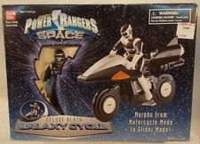 Power Rangers In Space - Deluxe Black Galaxy Cycle Morphs to Glider Mode Bandai