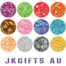 12 Color Metal Shiny Glitter Nail Art Tool Kit Acrylic Powder Star Shape NS0027