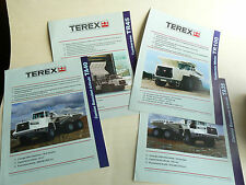 Lot de 4 Prospectus DUMPER  Camion TEREX    brochure catalogue  TP