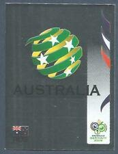 PANINI FIFA WORLD CUP-GERMANY 2006- #417-AUSTRALIA TEAM BADGE-SILVER FOIL