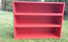 John Lewis of Hungerford retro style kitchen shelf unit in chilli red