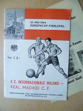 1964 European Cup Final- INTER MILAN v REAL MADRID with Insert (Org*, Excellent)