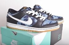 NIB MEN'S NIKE DUNK LOW PREMIUM FT SB QS 10 Black/Midnight Navy Denim 745954 014