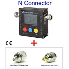 SURECOM SW102 vswr frequency counter & power meter + ADAPTOR FOR BAOFENG RADIO