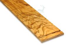 """Olive wood guitar fretboard,fingerboard 25.5""""Fender R7.25"""" vintage style"""