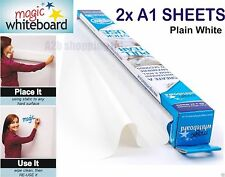 2X A1 SHEETS MAGIC WHITEBOARD ON WALL DRY WIPE REUSABLE STICKER ROLL STICK