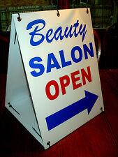 BEAUTY SALON OPEN with ARROW 2-Sided  Sandwich Board Sign Kit NEW