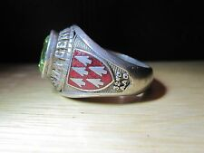 VINTAGE MP SILVER OLD 32nd ARMY AIR MISSILE DEFENSE COMMAND AAMDC GERMANY RING