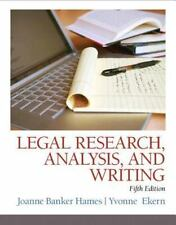Legal Research, Analysis, and Writing 5th Edition