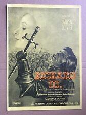 Richard III. (Werberatschlag '56) - Laurence Olivier / William Shakespeare