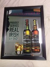 "Michael Collins IRISH WHISKEY Mirror Wall Sign Spingfield Bar Pub 21"" X 26"""