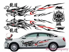 For Most Car Truck Chinese Totem Dragon Graphics Side Decal Body Hood Sticker