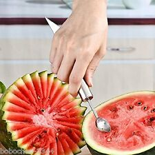2 in 1 Stainless Steel Slicer Melon Baller Fruit Carve Knife Ice Cream Dig Scoop
