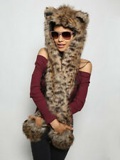 Spirithoods Baby Bobcat NWT Spirit Hoods Faux Fur Hood Spirithood Animal Ears