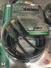 MONSTER CABLE I300 4M (13.1ft) HDMI VIDEO AUDIO Gold Plated Connectors 1080i