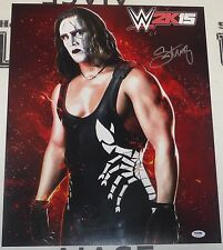 Sting Signed WWE 16x20 Photo PSA/DNA COA 2k15 Video Game Picture xbox PS4 Auto'd