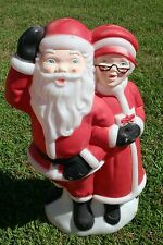 "Blow Mold Santa Mrs Claus Plastic Decoration 34"" Christmas Empire Carolina"