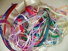 30  - 1 metre lengths of mixed ribbon. Organza, satin in many widths