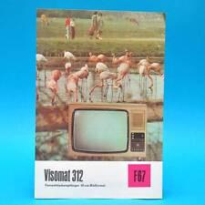Dispositivo fernsehtisch VISOMAT 312 DDR 1976 61-TUBO | Prospetto televisore dewag f67 a